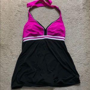 One piece halter swimsuit